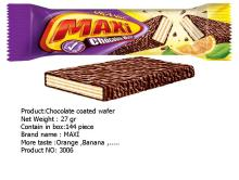 chocolate coated wafer