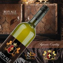 Royale alcohol removed halal wine white