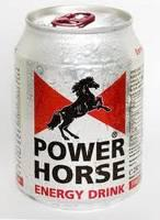 Energy Drink Power Horse 500ml and 250 ml.
