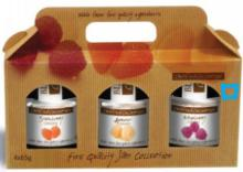 various fruit jams with gift package