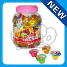 15g fruity cup jelly in round jar