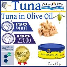 Tuna in Olive Oil,Tuna in Olive Oil canned, 100% High Quality of Tuna, Fresh Tuna in Olive Oil 85 g