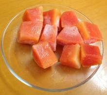IQF red papaya dice