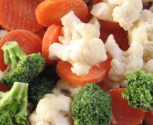 Frozen foods vegetables
