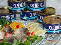 Canned fish in assortment