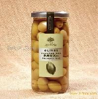 GREEN CRACKED OLIVES FROM LES BAUX