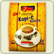 Owl 2 in 1 Kopi-C Kosong Instant Coffee with Non Dairy Creamer