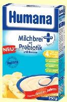 Humana milk cereal with prebiotic and banana