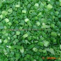 Frozen green onion diced