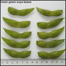 Frozen green soya beans