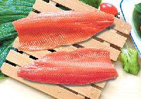 Frozen salmon fillet