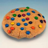 Crunchy Candy Cookie with M&M