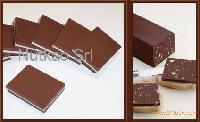 Chocolate slabs and candies