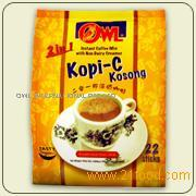Owl 2 in 1 Kopi-C Kosong (Instant Coffee with Non Dairy Creamer)