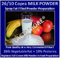 Milk Powder with 26% of Copra Veg. Fat & 10% of Proteins!