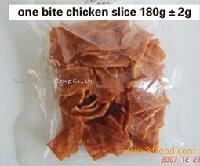 One bite chicken slice
