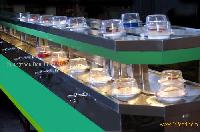 Double deck rotary sushi conveyor