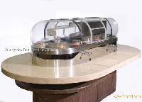 Freezing rotary sushi conveyor