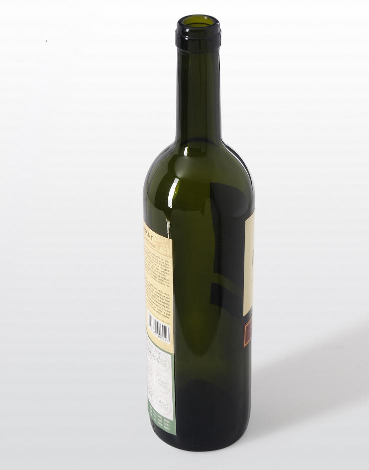 Dark green wine bottle with capacity of 750ml products for Green wine bottles