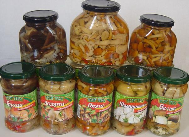 Mushrooms in Marinade