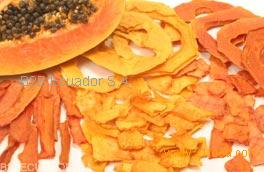 The procedures for using dried papaya