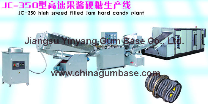 JC-350 High speed filled jam hard candy plant